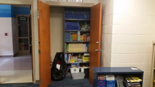 Pretty good storage closet in class