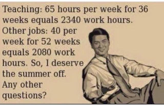 We earn it, trust me.
